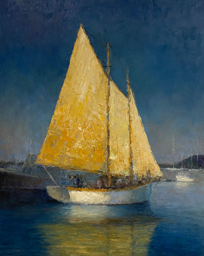 Sunset Sails by Mark Daly, 30×24, $9,500