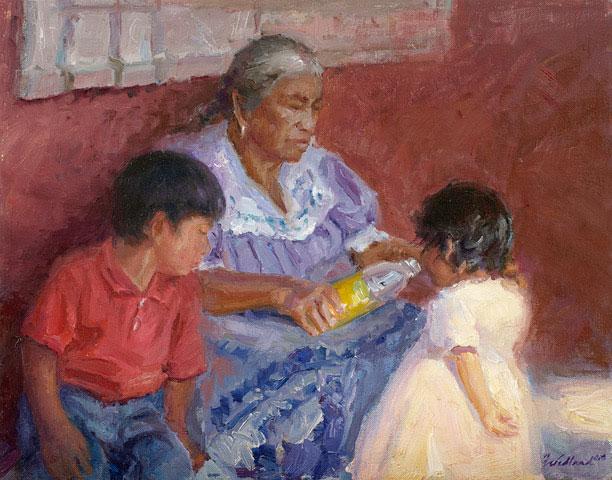 La Abuela by Howard Friedland OPAM, 11x14, $2,500