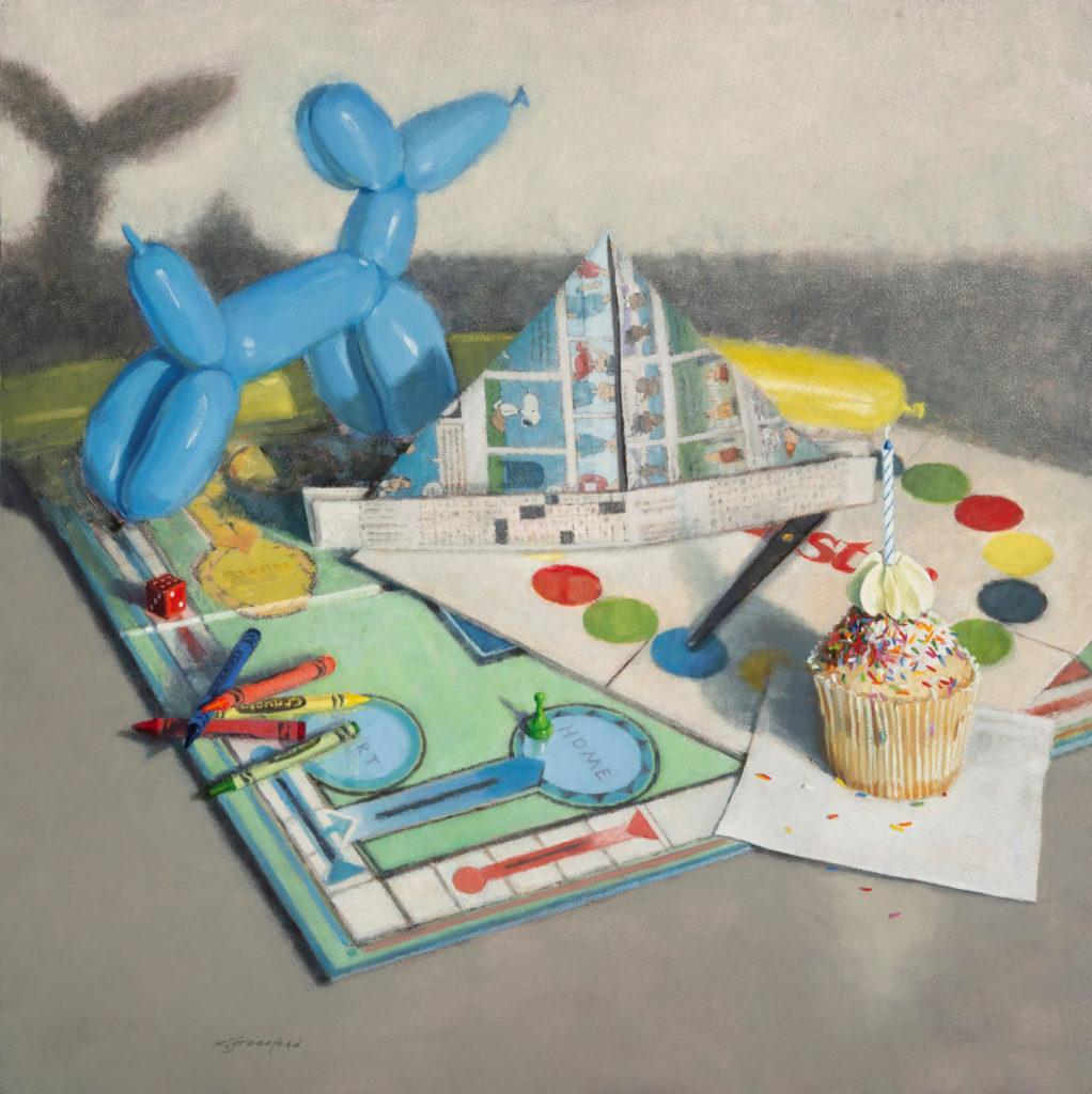 Home by Katherine T Grossfeld, 30×30, $3,000