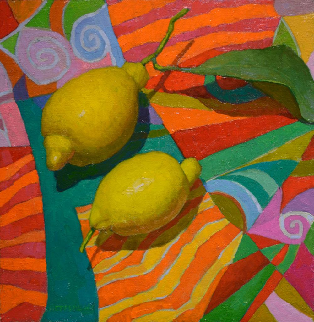 Lemon Squares III by Melissa Hefferlin, 11×11, $1,300