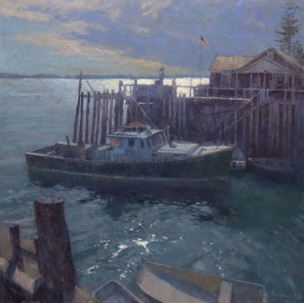 August Evening by Neal J Hughes OPA, 30×30, $9,400