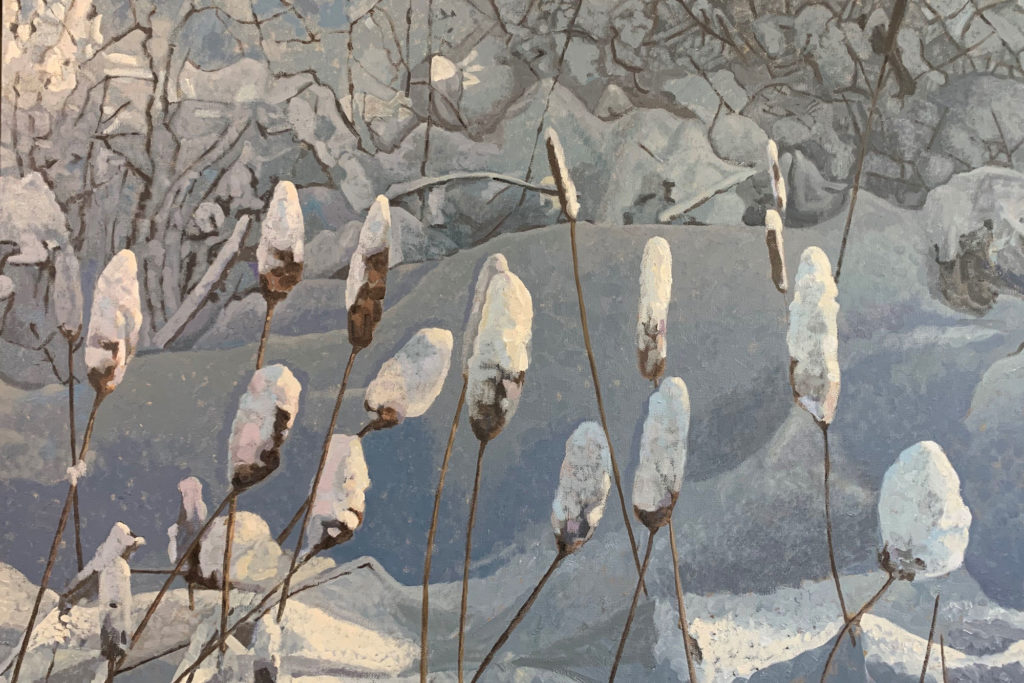 Cattail Cotton by Nils P Johnson, 24×36, $4,200