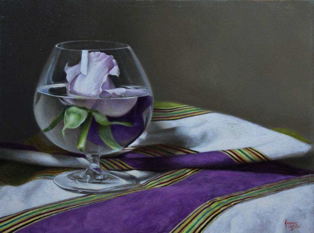 Saluti by Charles G Kapsner, 9×12, $4,750