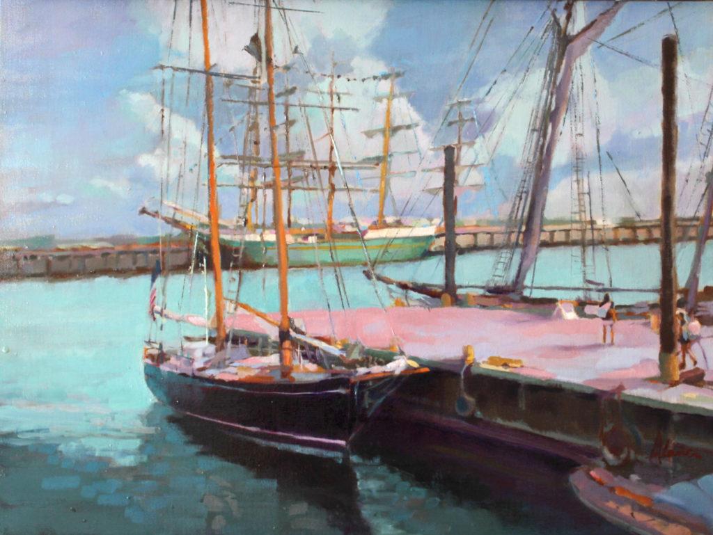 Tall Ships by Alana M Knuff, 18×24, $2,800
