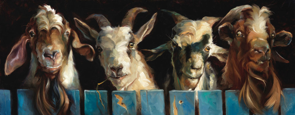 Four Musketeers by Yelena Lamm, 12×30, $3,800