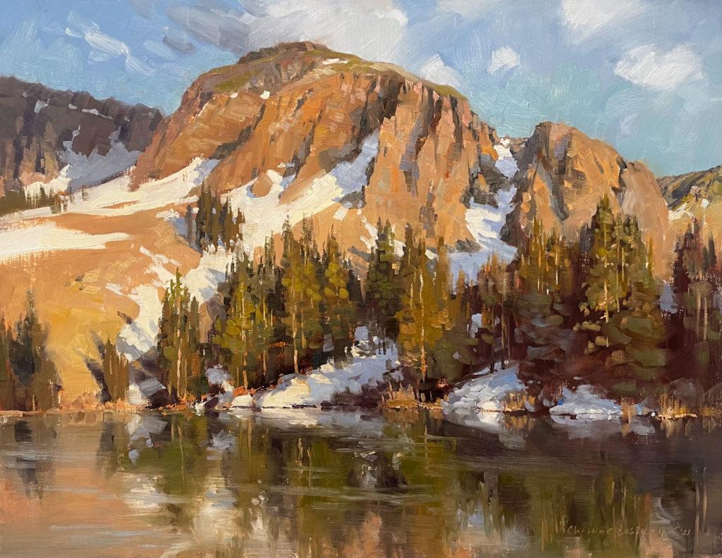 Last Alta Reflections by Christine Lashley OPA, 14×18, $2,650