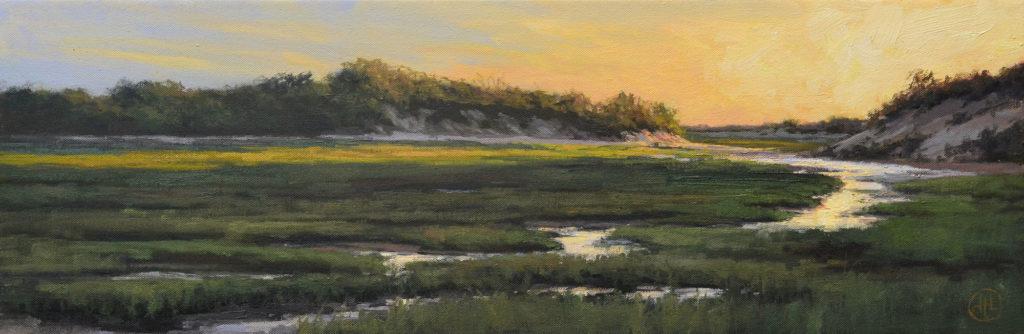 Waning Light by Dottie T Leatherwood, 10×30, $1,600
