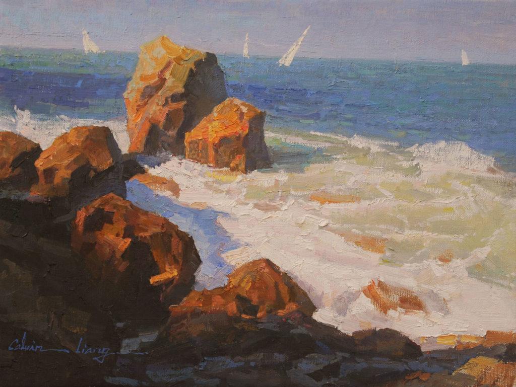 Incoming Tide by Calvin Liang OPAM, 12x16, $2,400