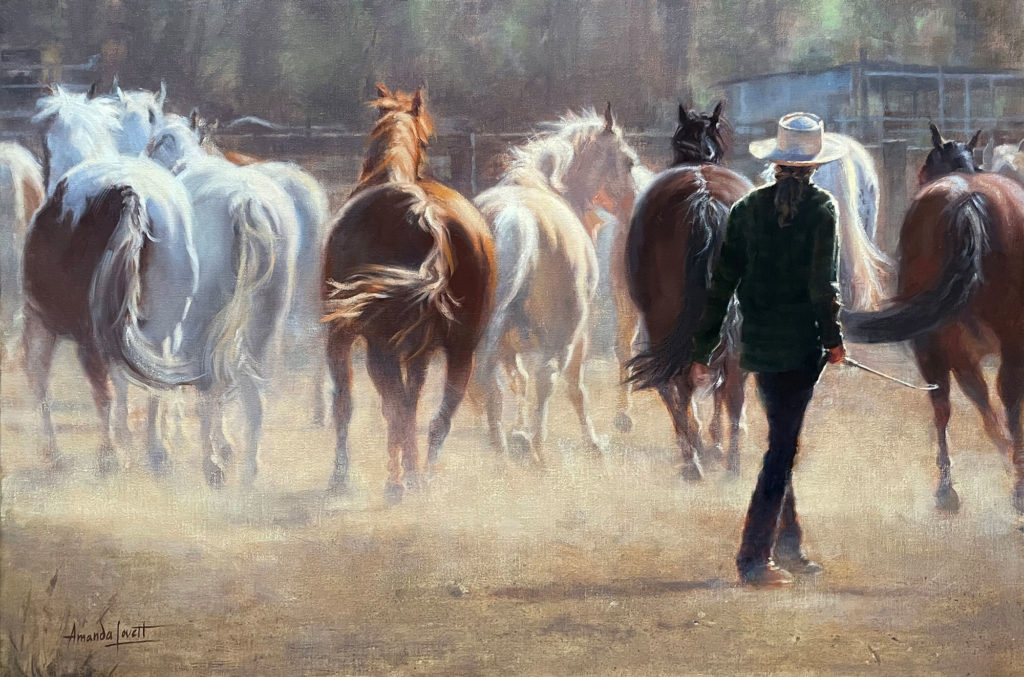 Driving Force by Amanda Lovett OPA, 20×30, $3,050