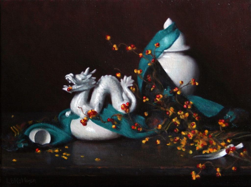 Bittersweet and Dragons by Lynne B Mehlman, 12×16, $2,800