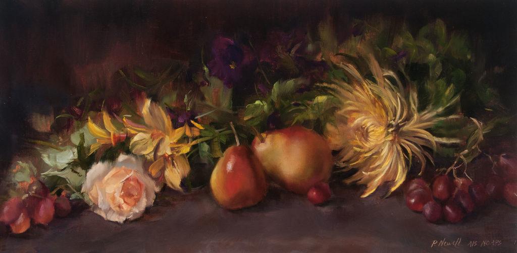 Autumn Harvest  by Pamela C Newell OPA, 10×20, $1,800