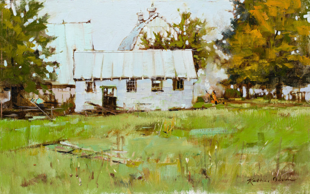 Burn Pile by Kathie Odom OPA, 15×24, $3,400