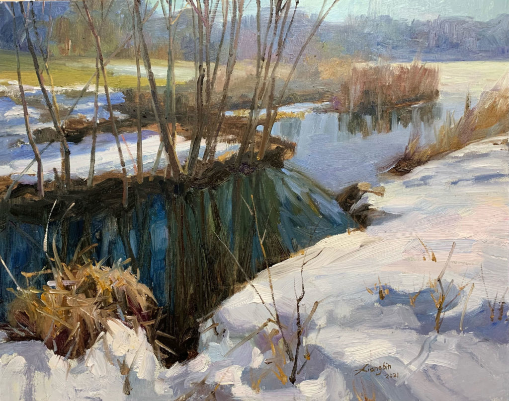 April Snow by Shi Xiangbin, 16×20, $1,800