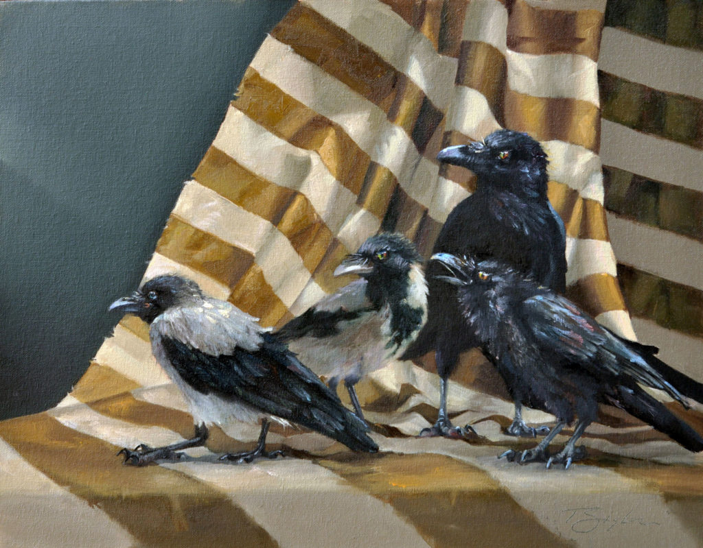 Unkindness of Ravens by Tamara A Sigler, 14×18, $1,725