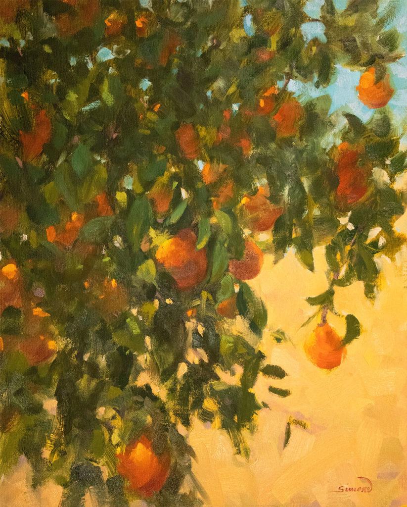 Sweet Honeybells by Robert J Simone, 20×16, $3,000