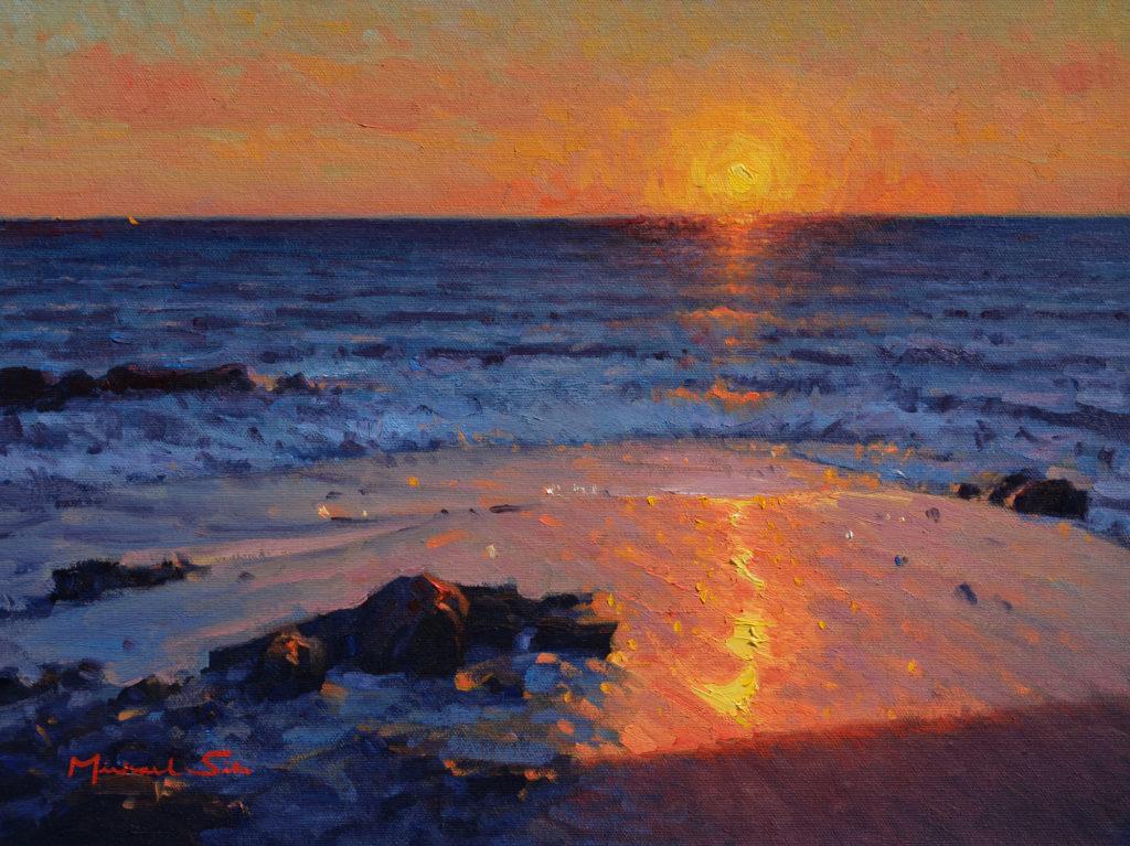 Ocean Sunset by Michael Situ OPAM, 12x16, $2,000