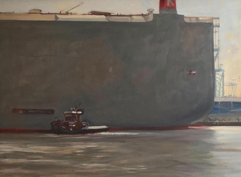David and Goliath by Mary O Smith, 24×36, $3,500