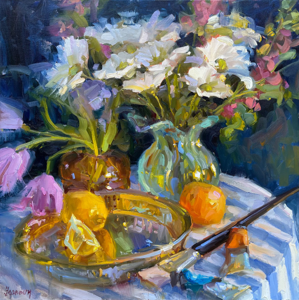 Flowers, Citrus and Oils by Shannon Smith Hughes, 24×24, $4,400