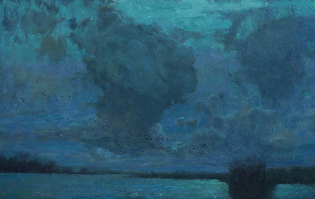 Night Crossing by Seth Tummins, 14×24, $3,000