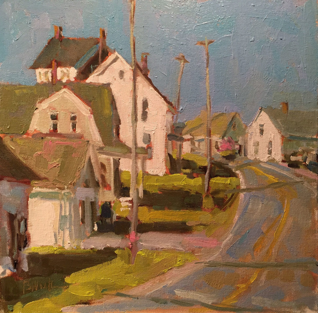 Round the Corner to the Sea by Barb E Walker, 12×12, $1,000