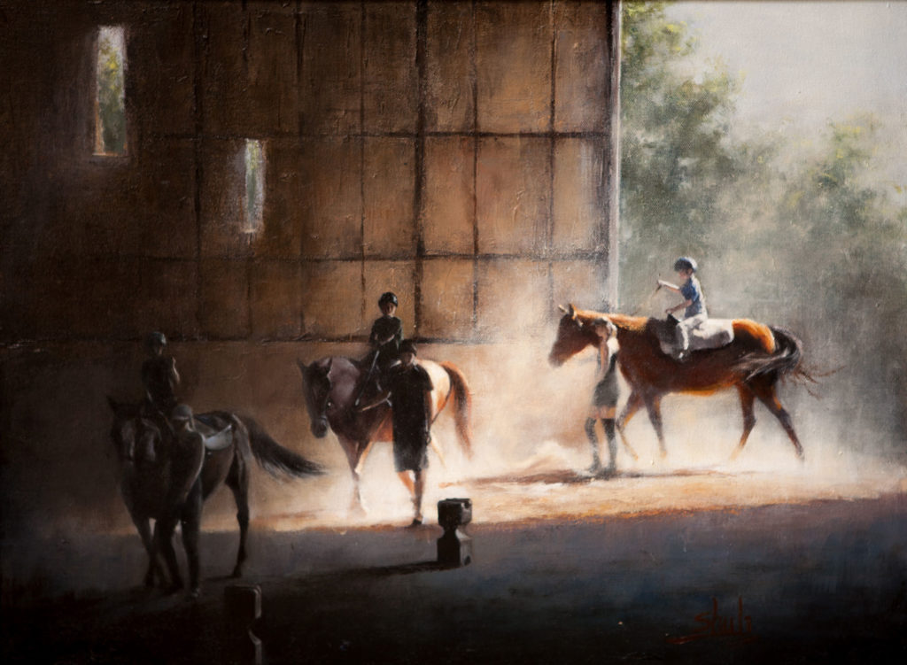 The First Ride by Shuli Wang, 18×24, $3,600