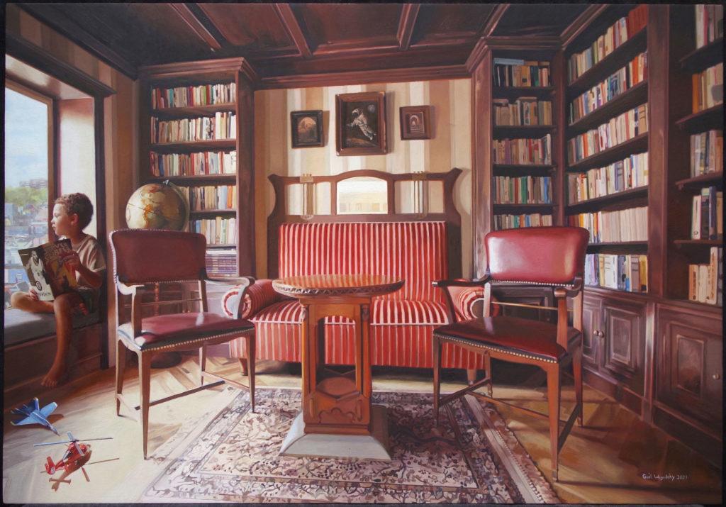 Sittin in Latitude Yearn Seat by Gail E Wegodsky, 22×32, $2,500