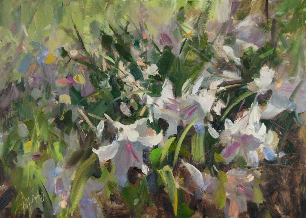 White Lillies by Stephanie Amato, 12×16, $1,800